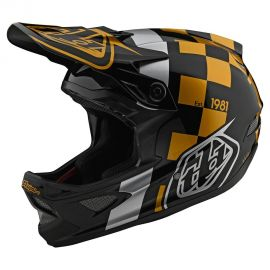 Casco Troy Lee Designs D3 Fiberlite Raceshop Black/Gold