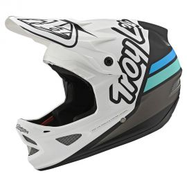 Casco Troy Lee Designs D3 Fiberlite Silhouette White/Navy