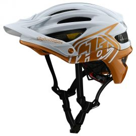Casco  Troy Lee Designs  A2 MIPS Decoy Pearl White/Gold