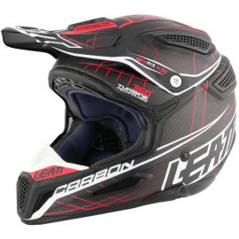 Casco Integrale Leatt DBX 6.5 Carbon  Carbon/White/Red