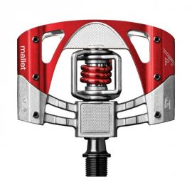 Pedali Crank Brothers Mallet 3 Raw/Red Red Spring