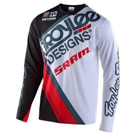 Jersey Troy Lee Designs Skyline Sprint Ultra Tilt Sram nero/bianco