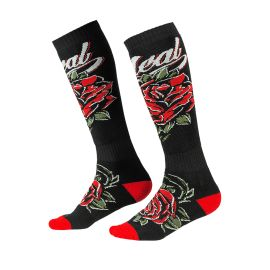 Calze ONeal Pro Mx Roses black/red