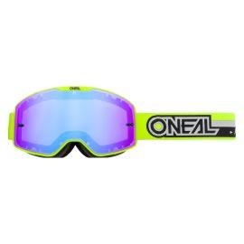 Maschera ONeal B-20 PROXY Neon Yellow/Black - Radium Blue