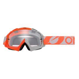 Maschera ONeal B-10 TWOFACE Orange/Gray - Clear